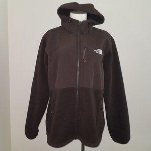 The North Face Hooded Brown Denali Jacket Fleece